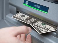 Снятие наличных с банкомата