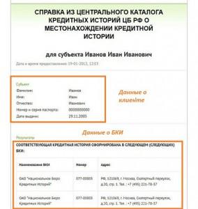 Справка от ЦККИ