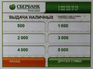 Выбор суммы