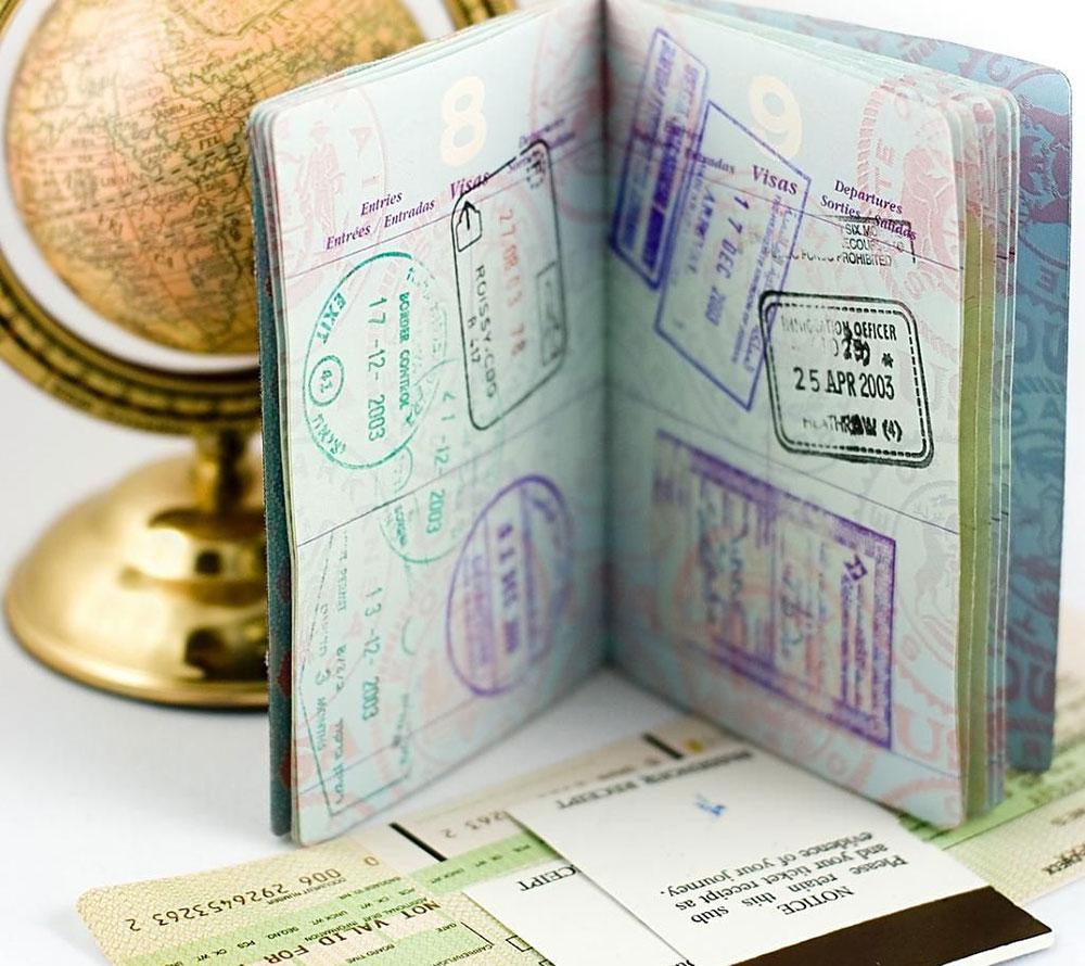 Загранпаспорт с визами