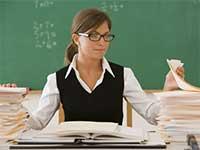 Учительница за работой